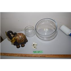 Bowls And Elephant Figurine