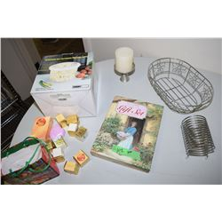Soap Lot, Address Nos Books, Candle Etc