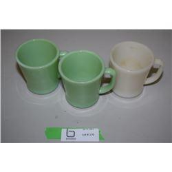 Jadeite x2 Milk Glass x1