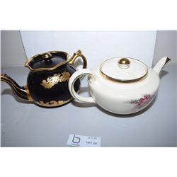 Arthur Wood Teapot (Damaged) Sudlow Teapot (Crack Lid)