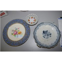 Royal Winton And Antique Plate, Bavaria Bowl