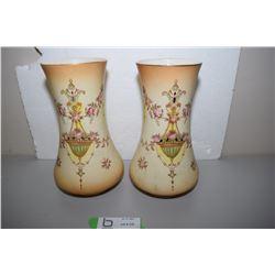 """Crown Devon 9"""" Vases"""