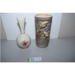 Royal Copley (Damaged) And Lenox Vase