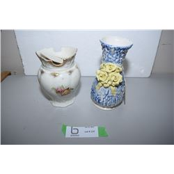 DBE Vase And Meakin Piece From Pitcher/Bowl Set