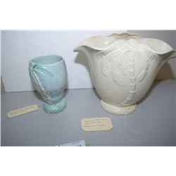 2 Beswick Palmware Vases 1 Damaged 1072 & 1069