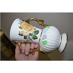 Yellow Rose Pottery Vase