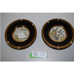 Gilded With Gold And Sliver Wall Plates
