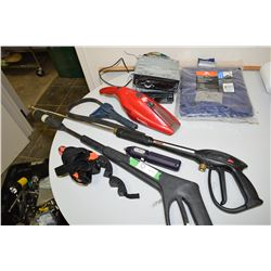 Tarp, Power Wands, Radios, Oil Filter Wrenches
