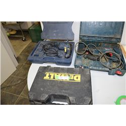 Bosch Drill (Not Working) Mastercraft Drill (Working) And Bits And Dewalt (Case Only