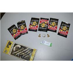 Tim Horton Cards, Crucifix Ring, Cufflinks, Needle Set