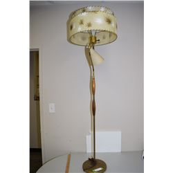 Antique Floor Lamp (Fiberglass Shades)