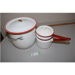 Red & White Enamelware
