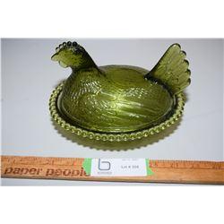 Chicken On A Nest (Green)