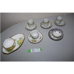 Demitasse x5 & Royal Albert Tea Rose