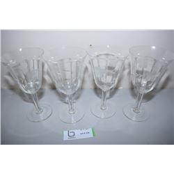 Etched Crystal Goblets