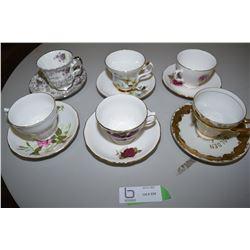 Teacup & Saucers x6 Lot