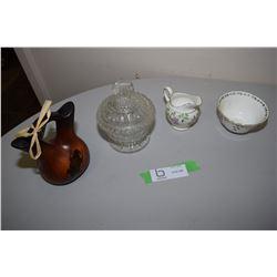 Tuscan C & S Wedding Vase, Pressed Glass