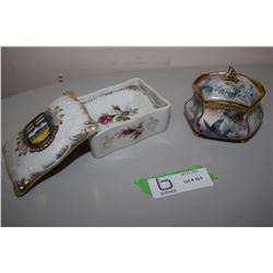Porcelain 1955 Alberta Dishes & Collector Box