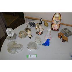 Glass, Brass, Pottery, Etched Glass