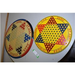 Litho-Tin Chinese Checker Boards