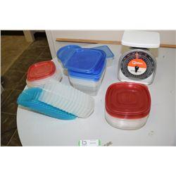 Plastic Containers, Portions Scale