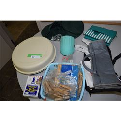 Misc Lot Tupperware/ Clothes Pin