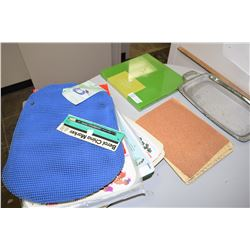 Placemats, Sandpaper, Cutting Board