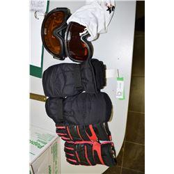 Ski Gloves & Goggles
