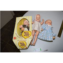 Composition Dolls & 1975 Baby Beans