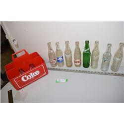Soda Bottles & Coke Case (1956 Pepsi)