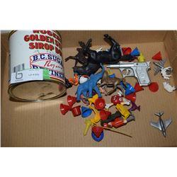 Toys & Syrup Tin