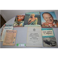 Books, WW2 Reader Digests, Auto & Railway Books