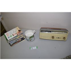 Channel Master Radio, Liptons Bowls, Readers Digest