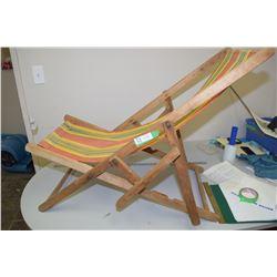 1950s Wooden Retro Lawn Chair