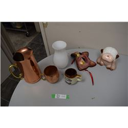 Decorative Lot, Copper Craft