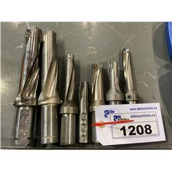 LOT OF 8 ASSORTED INDEXABLE DRILLING HEADS