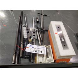 LOT OF ASSORTED REAMERS, TAPPING TOOLS, AND MORE