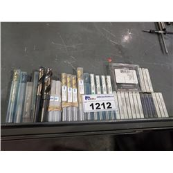 LOT OF ASSORTED TAP PLUGS, AND ASSORTED SIZE DRILL BITS