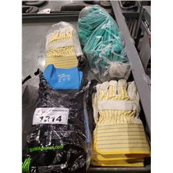 4 PACKAGES OF ASSORTED WORK GLOVES