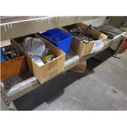 SHELF LOT ASSORTED TOOLS, FILES, AND MORE