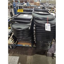 LOT OF APPROX 24 BLACK FOLDING CHAIRS