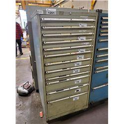 LISTA GREY 12 DRAWER 60 H X 28 W X 28 D MACHINIST CABINET