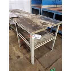 GREY 2 TIER  WORK TABLE 31  X 30  X  34 H