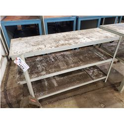 GREY 3. TIER TOOL BENCH 52  X 18 W X 33 H