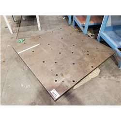 "STEEL WORK PLATE 48"" X 48"". X  2-1/2"" THICK"