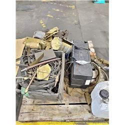 PALLET LOT INCLUDES WELDING TORCHES, CABLES, AND MORE