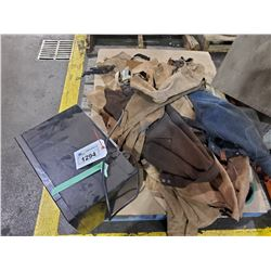PALLET OF ASSORTED WELDING APRONS