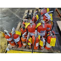 PALLET OF ASSORTED FIRE EXTINGUISHERS (NEED YEARLY REINSPECTION