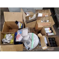 PALLET OF LACQUER THINNER, SPOT CHECK PENETRATOR, AND MORE