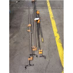 LOT OF 6 METAL CLAMPS